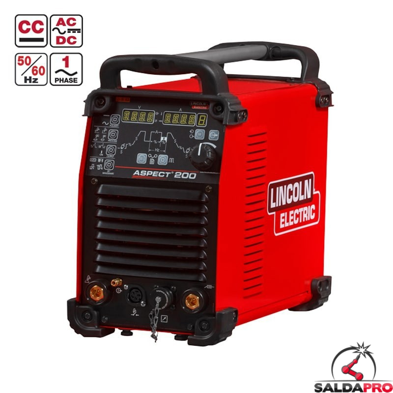 Saldatrice Inverter Aspect 200 Lincoln Electric in tig AC-DC