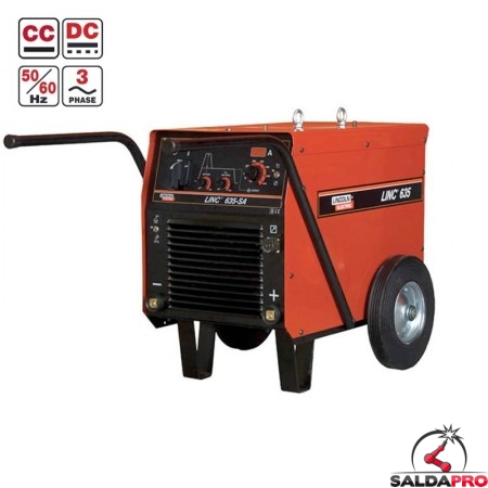 Saldatrice Linc 635-SA Lincoln Electric per la saldatura ad elettrodo MMA e Lift Tig