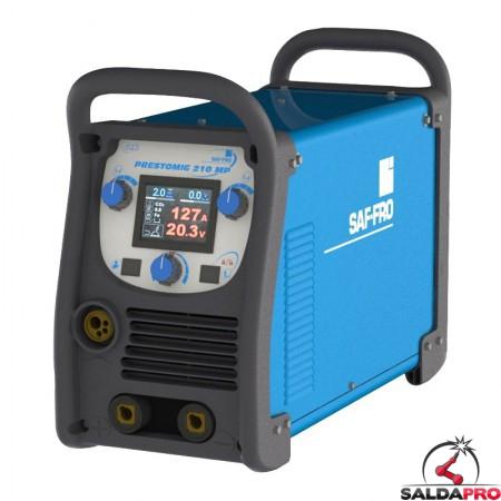 Saldatrice inverter Prestomig 210MP Saf-Fro 200A per saldatura MIG/MAG e filo animato