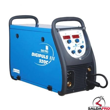 Saldatrice ad inverter Digipuls 320C Saf-Fro da 320A per la saldatura MIG-MAG e elettrodo MMA