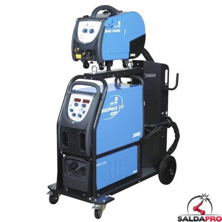 Saldatrice ad inverter Digipuls III 420 Saf-Fro da 420A per saldatura MIG-MAg e elettrodo