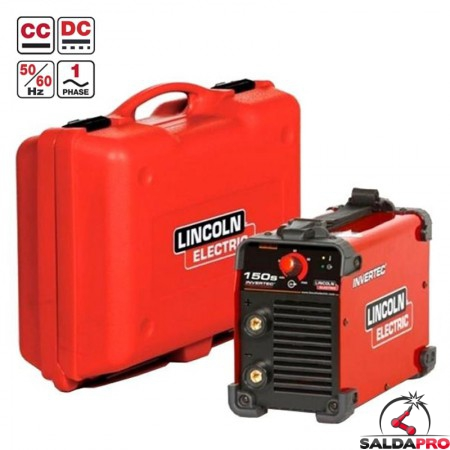 saldatrice inverter Invertec 150S con valigetta lincoln electric