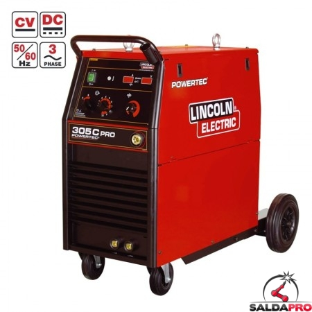 Saldatrice Powertec 305C PRO Lincoln Electric per saldatura MIG/MAG - Filo animato K14057-1