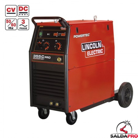 Saldatrice Powertec 355C PRO Lincoln Electric per saldatura MIG/MAG - Filo animato K14058-1