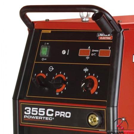 Pannello di controllo frontale saldatrice Powertec 355C PRO Lincoln Electric