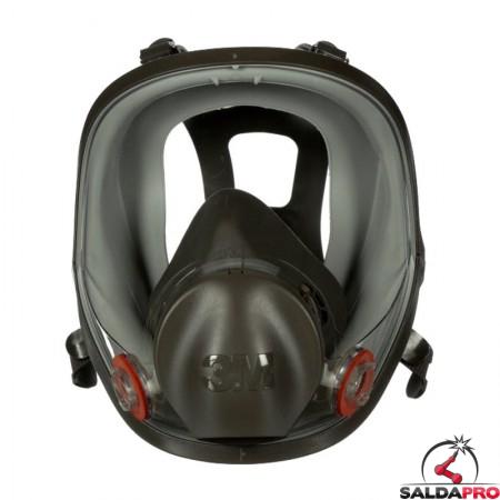 Maschera a pieno faciale 3M 6800 Taglia M per polveri vapori e gas 7100015051