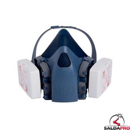 filtri antiparticolato 3M 6035 Classe P3 montati su semimaschera