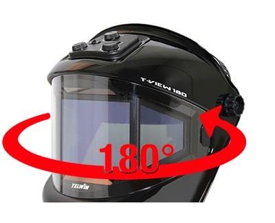 dettaglio vista 180 gradi maschera vision telwin