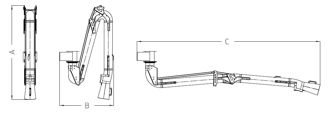 misure braccio aspirante aspirex1 dalpitech