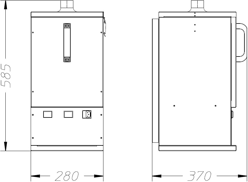 misure depuratore m-150 dalpitech