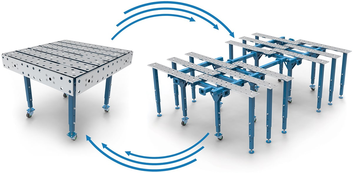 design convertibilee tavolo saldatura GPPH