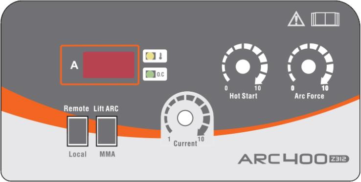 pannello di controllo saldatrice elettrodo ARC PRO 400 Jasic