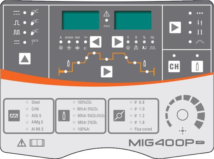 pannello di controllo saldatrice MIG 400P Jasic