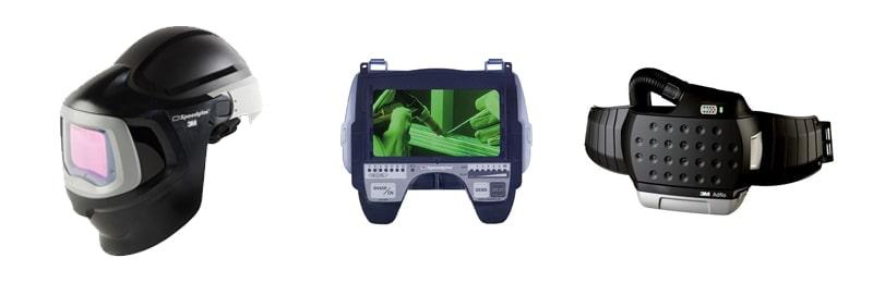 dettaglio componenti casco speedglas 9100MP ADF 9100XX 3m
