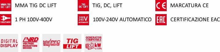 dotazione saldatrice a inverter advance 227 tig dc telwin