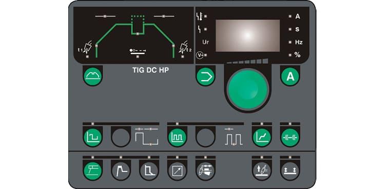 pannello di controllo saldatrice pi tig dc hp