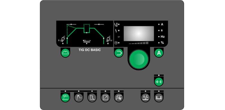 pannello di controllo saldatrice pi tig dc h basic