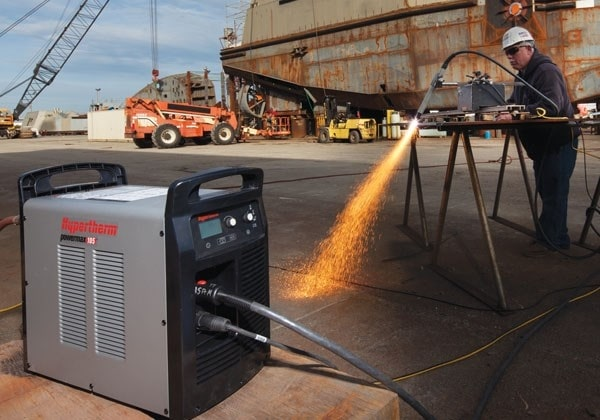 dettaglio sistema taglio plasma powermax105 hypertherm
