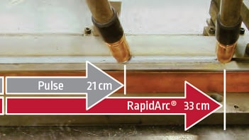 Processo Rapid Arc saldatrici Lincoln Electric