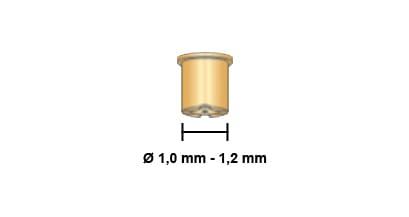 Dettaglio misure ugello lungo 50A 60A 70A torcia cebora p36 p52 p70 plasma