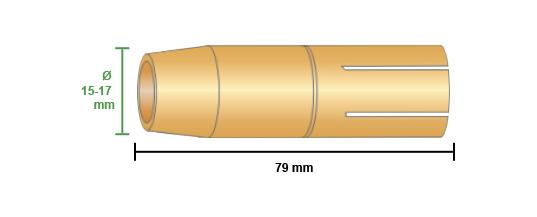 misure ugello gas conico fronius