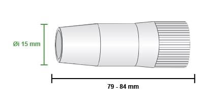 misure ugello gas lancia CWK400  motoman robotics